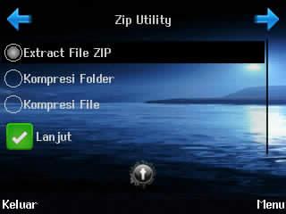 cara extract dan pack file, zip untility