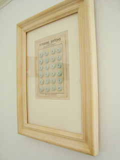 framed blue vintage buttons