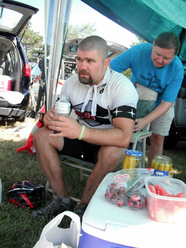 Back Massage at Dirty Kanza 200