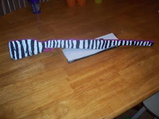 Zebra stripped 'gun'