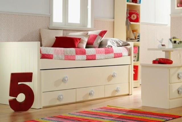 Cama compacta con cama desplazable para medida de cama de for Cama compacta infantil
