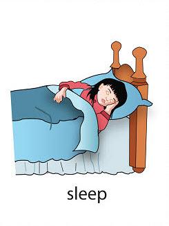 sleep%2520 %2520flashcard Verb flashcard