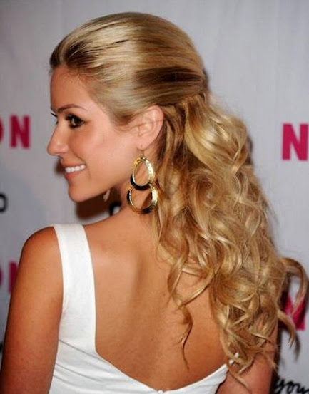 Blond Kristin Cavallaris Long Curly Hair Style In 2014. Curly Pin Up  Hairstyles