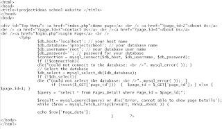 School Website Code