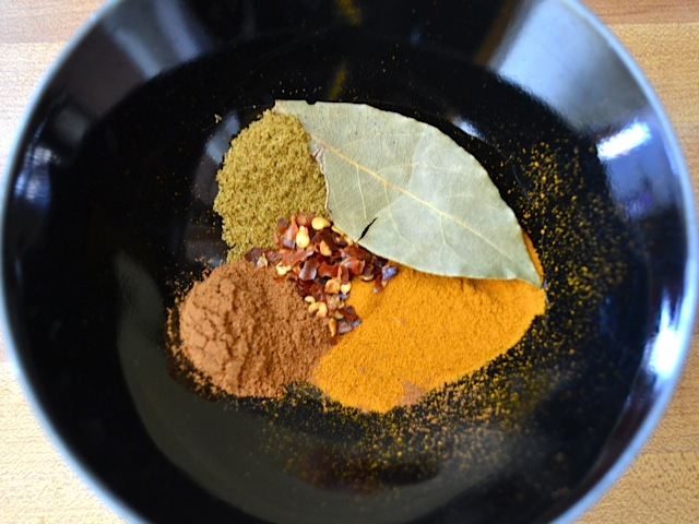spices ready to mix in bowl