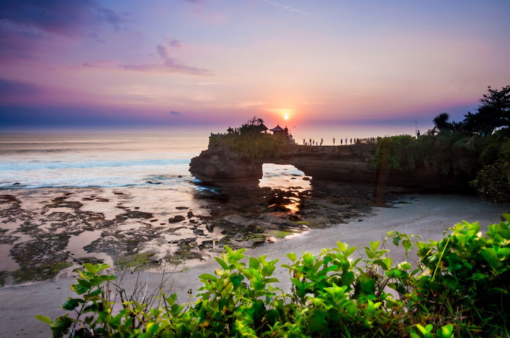 A bridge across the sky, Pura Batu Bolong, Bali, Indonesia