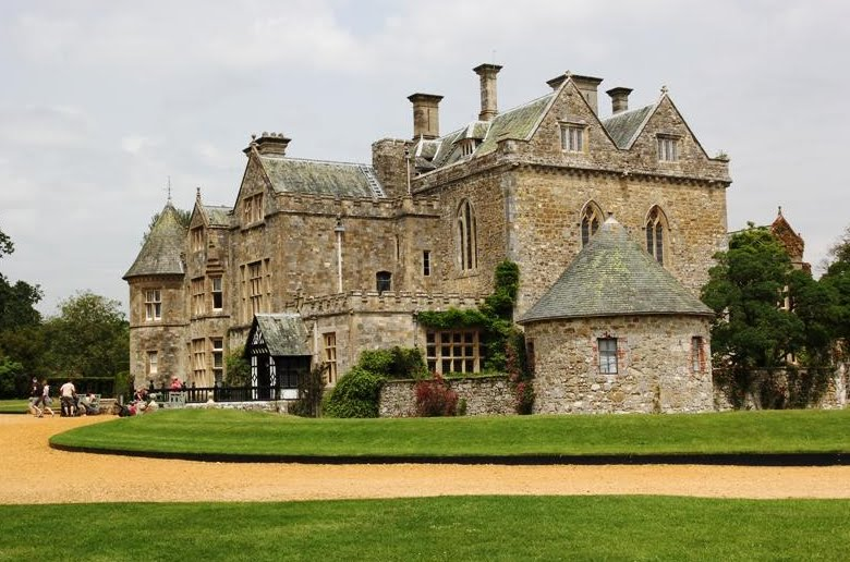 Beaulieu Palace dating from 1204 overlooks its own small lake.