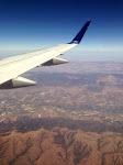 Blick auf California aus der Luft - auf dem Weg von L.A. nach San Francisco