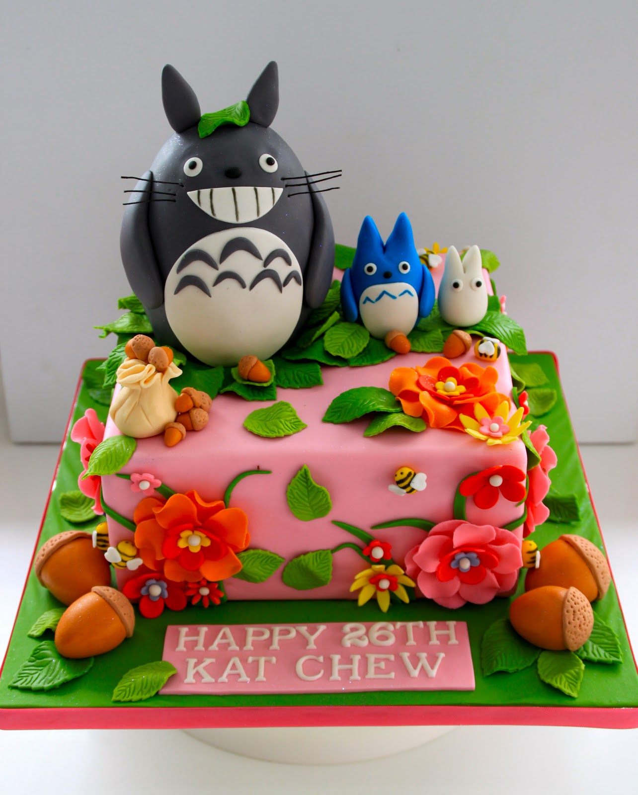 Awesome Celebrate With Cake Totoro Cake Funny Birthday Cards Online Aeocydamsfinfo