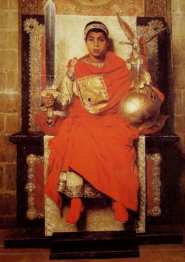 Jean-Paul Laurens - The Byzantine Emperor Honorius