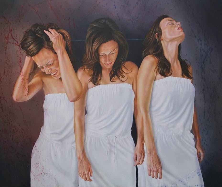Fe Esperanza y caridad, pintura al óleo de Alberto Penagos