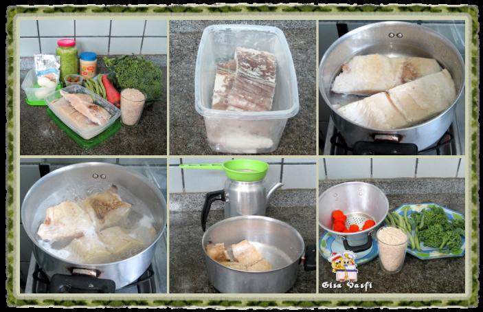 Arroz com bacalhau e legumes 3
