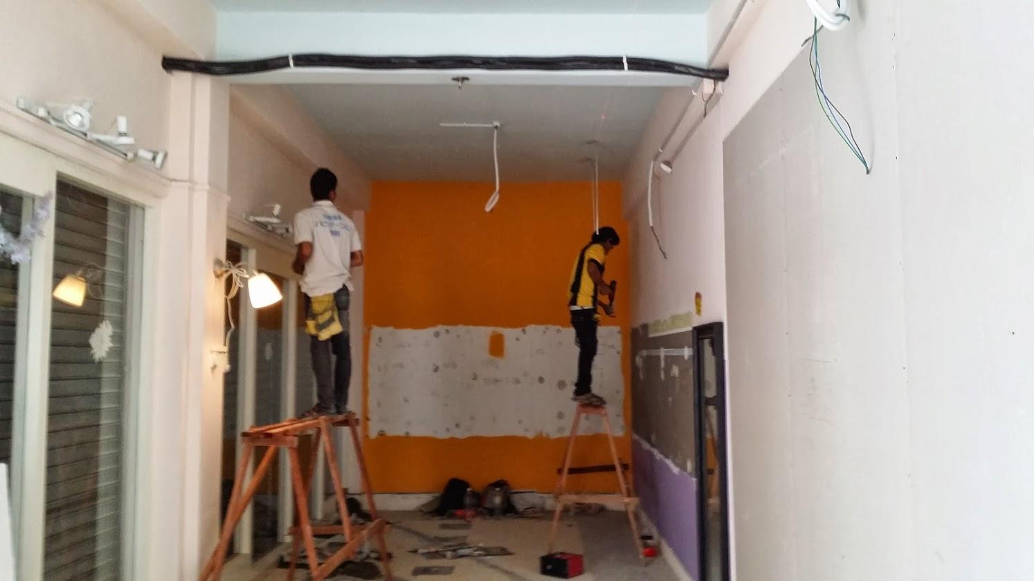 Plaster ceiling work