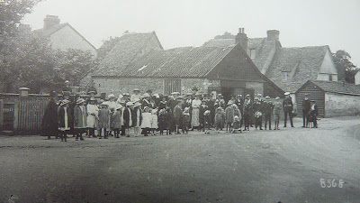 Outing outside of the Blacksmith's workshop, Hauxton Road, Little Shelford