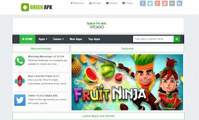 Share Green APK Responsive Blogger Template