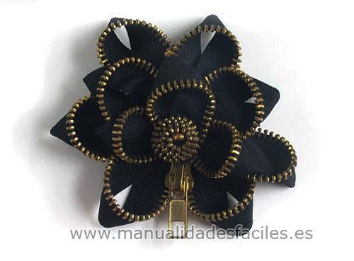 MANUALIDADES CON MATERIAL RECICLADO: Flores hechas con cremalleras