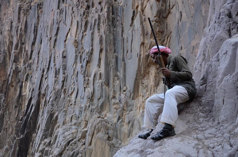 Beduinas su šautuvu