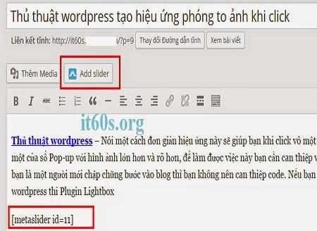 Cách tạo slide trình diễn ảnh chuyên nghiệp cho Wordpress 8