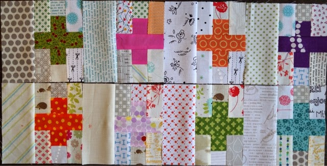 mini cross quilt block