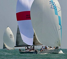 J/109 cruiser- racer sailboat- sailing in Asia/ Hong Kong