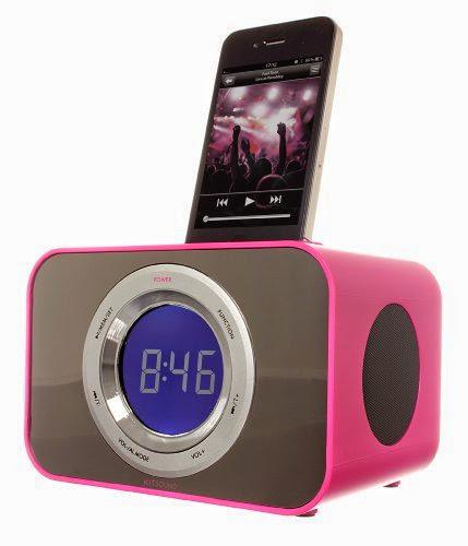 KitSound CLOCKDPI Clock Radio Dock for iPod / iPhone - Punk Pink