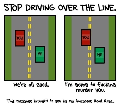 Stop Driving Over The Line