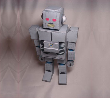 Beastie Boys Intergalactic Robot Paper Model