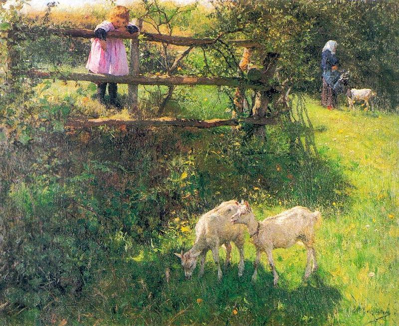 Evariste Carpentier - Les petites chèvres