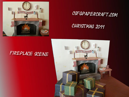 Christmas 2011 Fireplace Papercraft