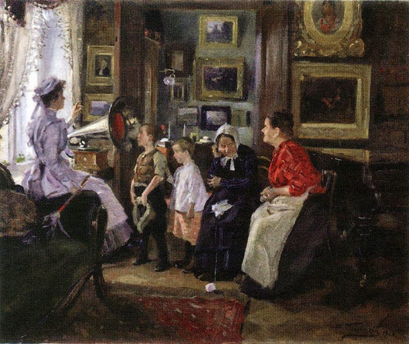 Vladimir Makovsky - They listen the gramophone