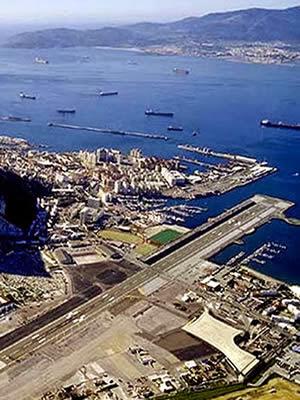 Gibraltar Airport, British overseas territory