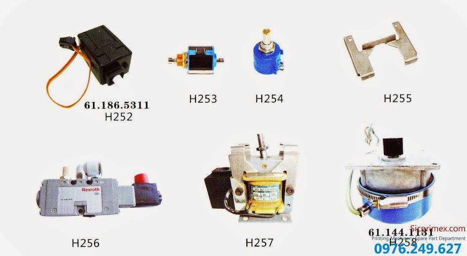 Chuyên linh kiện máy in nhập khẩu chính hãng giá rẻ H252-258