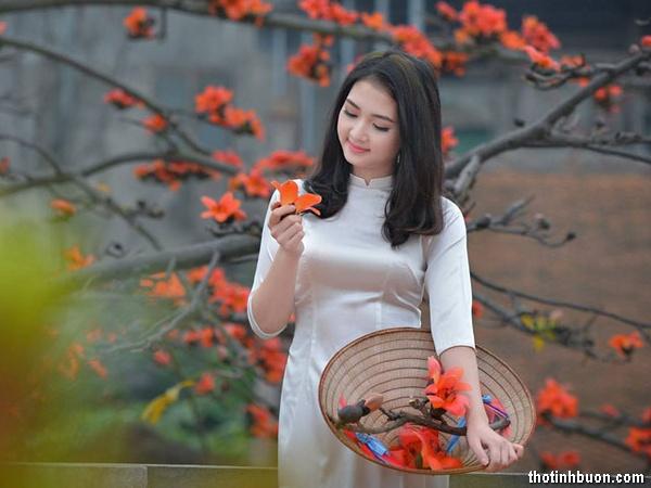 thơ tình buồn hoa gạo tháng 3