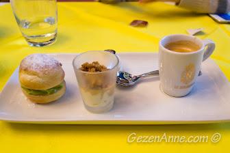 exotic meyveli tatlı ve hindistan cevizi sorbesi, La Rotonde Negresco