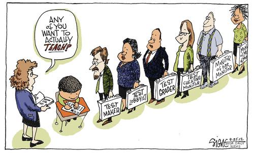 The Frustrated Teacher: Tuesday Cartoon Fun: Testy Edition