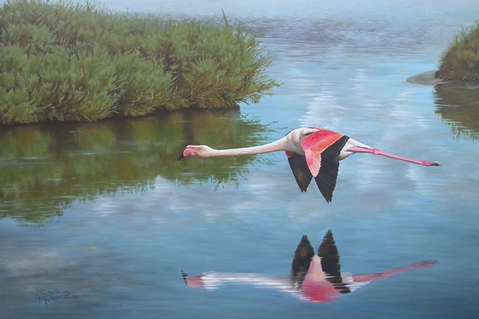 Pintura Reflejos en oleo de  Lluis Sogorb