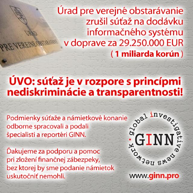 Zrusenie sutaze na dodavku dopravneho inforamcneho systemu