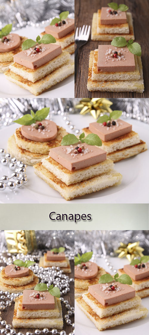 Stock Photo: Canapes with foie gras