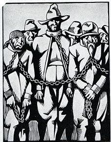 Los galeotes encadenados
