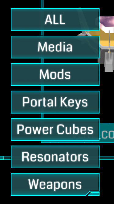 Ingress Items Categories