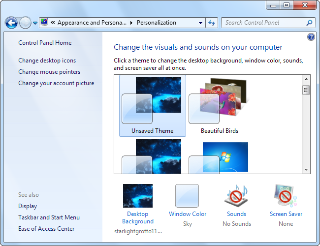 Change Windows 7 Theme