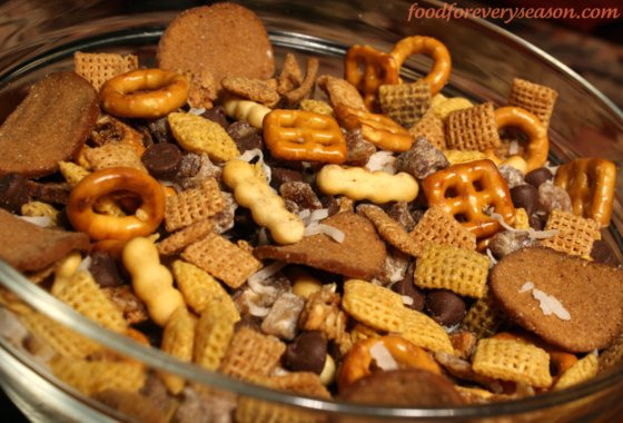Sweet and Salty Chex Mix Snack