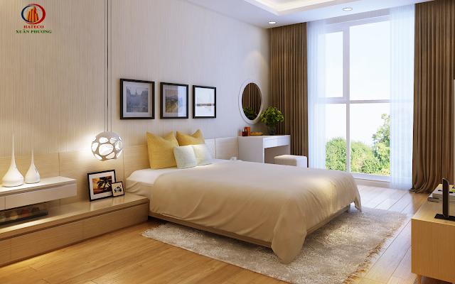 Phòng ngủ chung cư Hateco Apollo