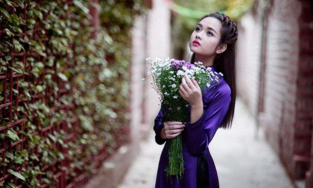 Thơ áo dài tím