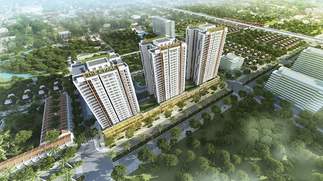 Phối cảnh tổng thể The K Park Văn Phú