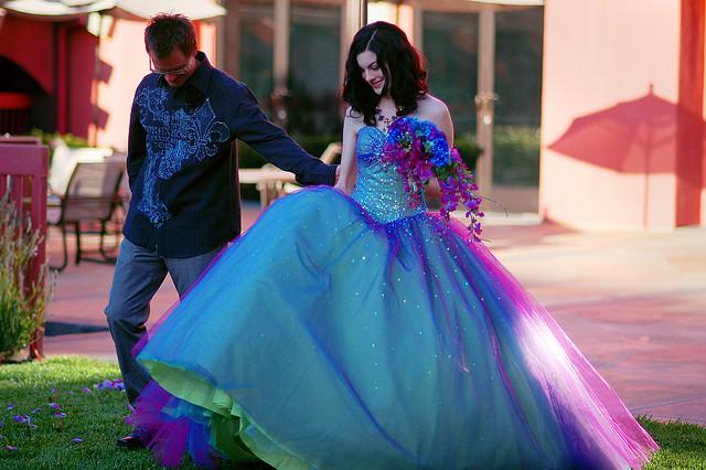 Wedding Lady: Blue and Purple Wedding Dress