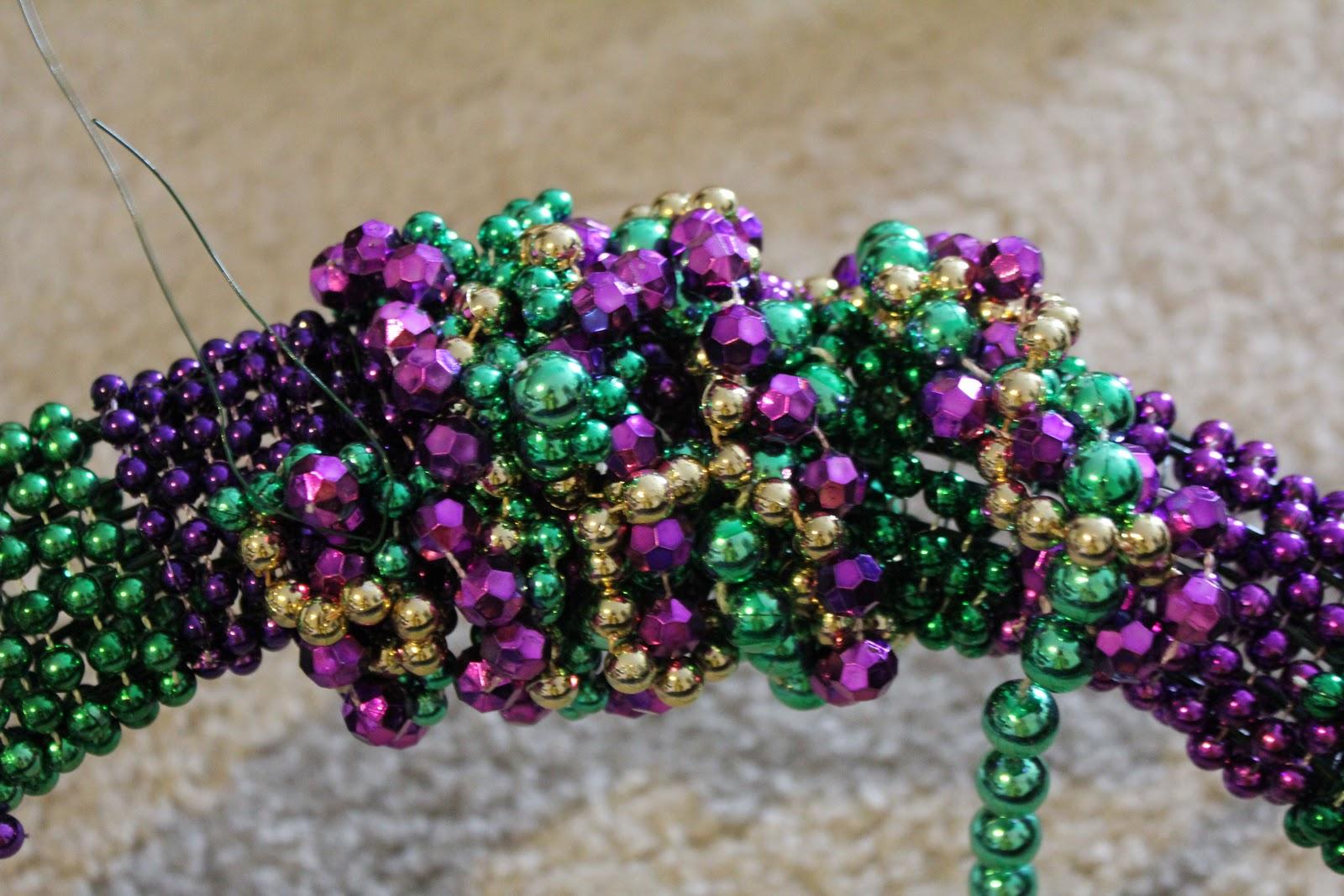 Sew In Love Mardi Gras Bead Wreath Tutorial