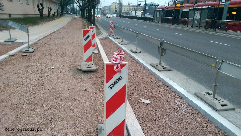 Będzie zachowana ciągłość nawierzchni i wysokości drogi dla rowerów oraz chodnika
