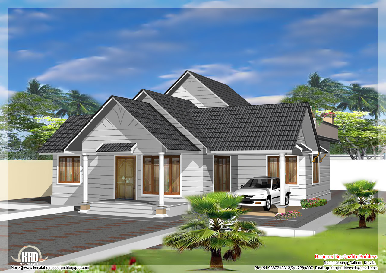 October 2012 kerala home design and floor plans for Single floor 4 bedroom house plans kerala