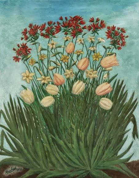 André Bauchant - Les massif de fleurs